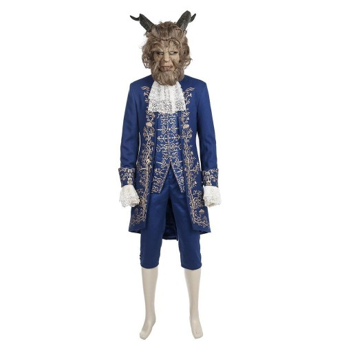 Movie Beauty And The Beast Prince Adam Costume Halloween Party Cosplay Costume