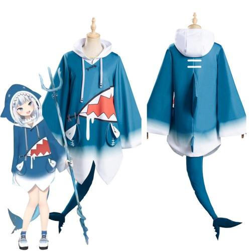 Hololive English Vtuber Gawr Gura Top Outfits Halloween Carnival Suit Cosplay Costume