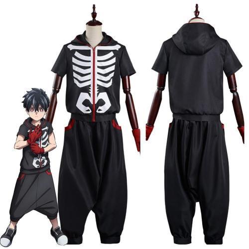 Anime Kemono Jihen Kabane Kusaka Top Pants Outfits Halloween Carnival Suit Cosplay Costume