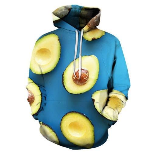 Blue Avocado 3D Sweatshirt Hoodie Pullover