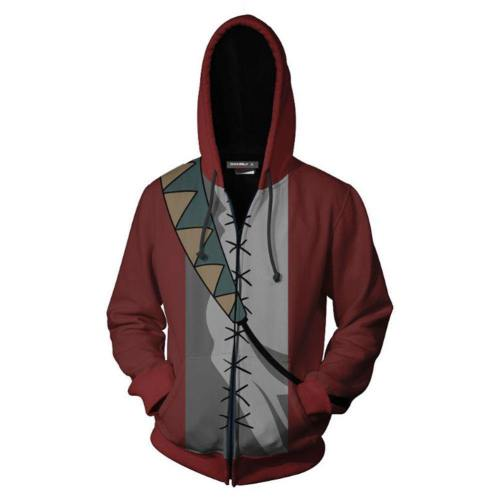 Unisex Mugen Hoodies Champloo Zip Up 3D Print Jacket Sweatshirt