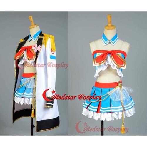 Love Live!Kosaka Honoka Cosplay Costume School Idol Tomodachi Cosplay Navy Sailor Suit Cape