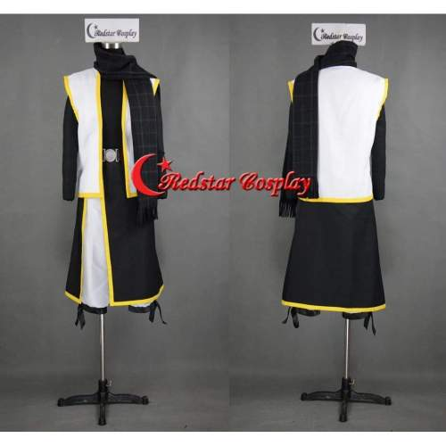 Natsu Dragneel Cosplay Costume From Fairy Tail With Black Scarf Custom In Any Size