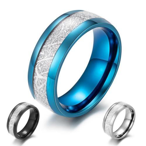 Meteorite Inlay Ring