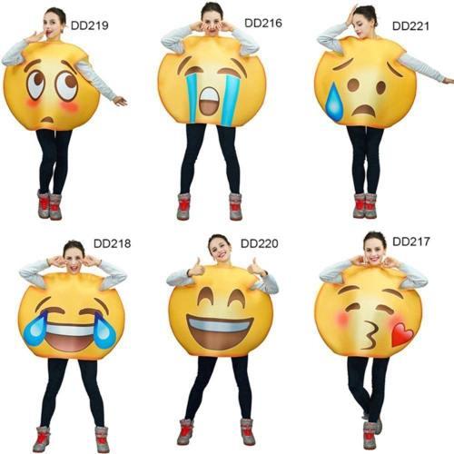 Unisex Funny Emoji Costumes Face Series Jumpsuit  Cartoon Cosplay Emoji Costume