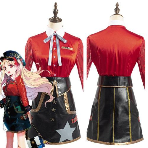 Game Fgo Fate Grand Order Ereshkigal Women Red Shirt Skirt Outfits Halloween Carnival Suit Cosplay Costume