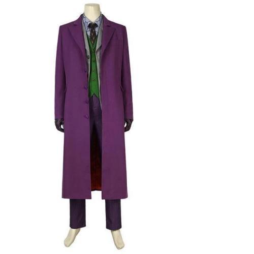 The Dark Knight Rises Joker Costume Cosplay Batman Coat Blazer Adult Heath Ledger Halloween Costumes