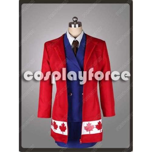 Hetalia:Axis Powers Canada Female Cosplay Costume Mp002887