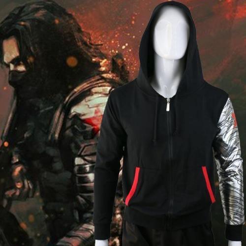 Captain America 3 Civil War Winter Soldier Bucky Cosplay Coat Sweatshirts Hoodies