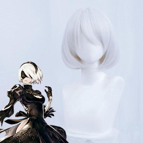 Nier: Automata 2B Yorha No.2 Type B Silver White Cosplay Wig