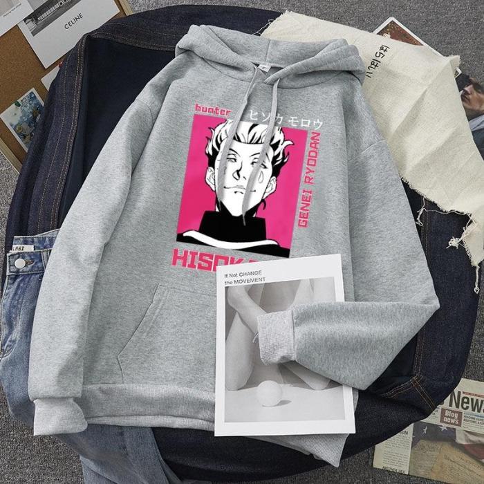 Hisoka Morow - Hunter X Hunter Anime Pullover Unisex Printed Sweatshirt Sport White Black Casual Hoodie