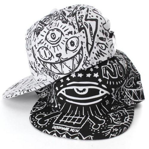 Sketch Cat Print Hat