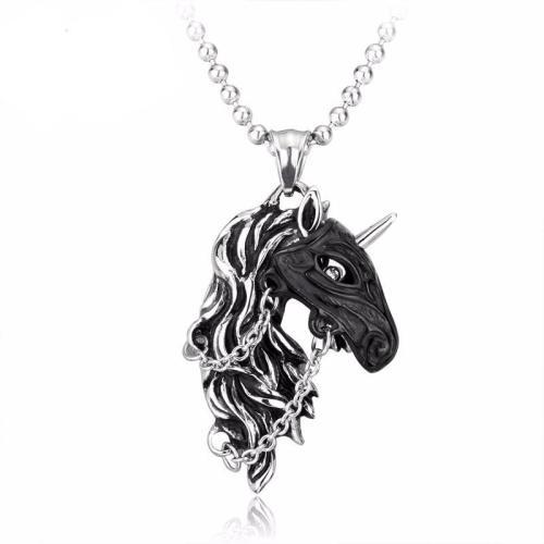 War Stallion Steel Necklace