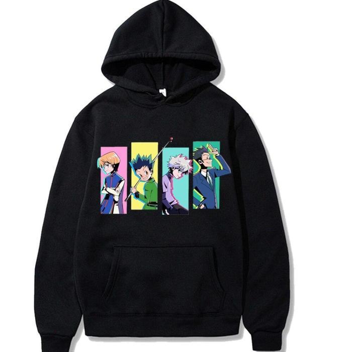 Japanese Anime Hunter X Hunter Printing Long-Sleeved Harajuku Print Style Sweatshirt And Loose Hoodie