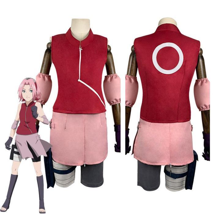 Naruto Sakura Haruno Halloween Carnival Suit Cosplay Costumes