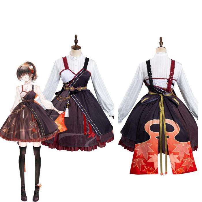 Genshin Impact Kazuha Lolita Dress Outfits Halloween Carnival Suit Cosplay Costume