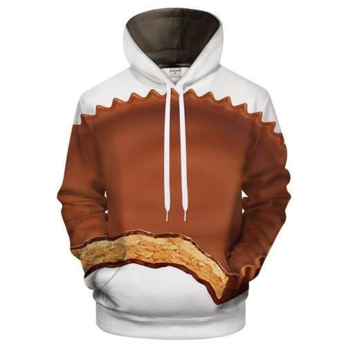 Peanut Butter Cup 3D Sweatshirt Hoodie Pullover