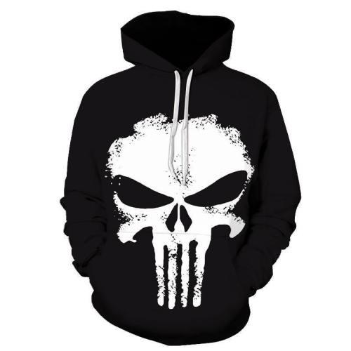 Punisher Skull 3D Hoodie Sweatshirt Pullover