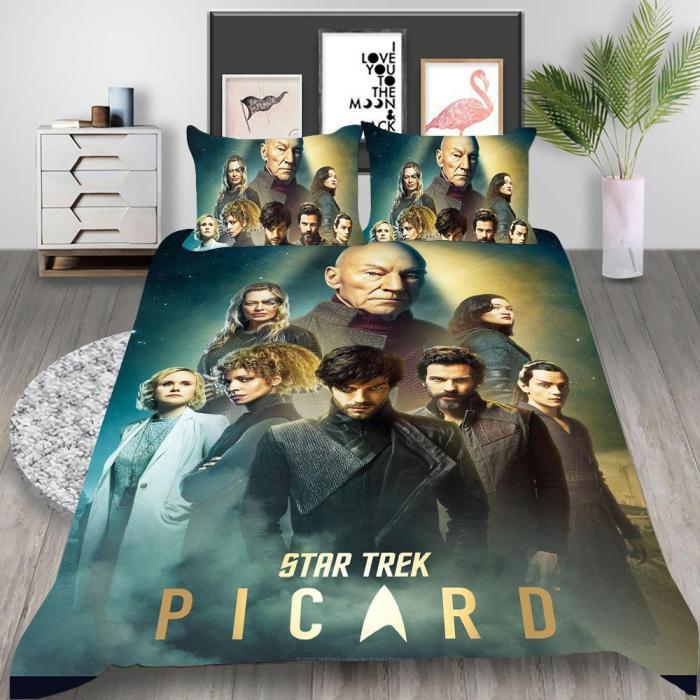 Star Trek Discovery Cosplay Bedding Set Duvet Cover Pillowcases Halloween Home Decor