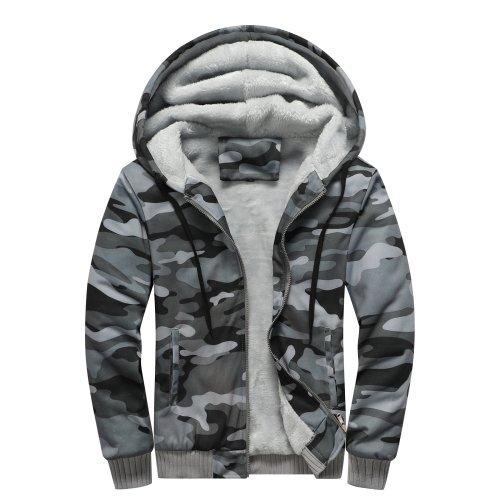 Men'S Fleece Hoodies Comforable Streetwear Coat