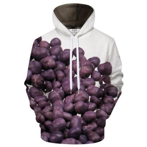 Purple Candy 3D Sweatshirt Hoodie Pullover