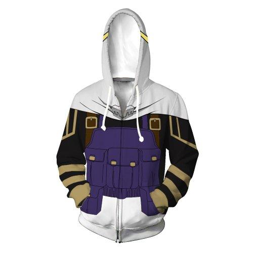 My Hero Academia Anime Blue Hawaks Winged Hero Cosplay Unisex 3D Printed Mha Hoodie Sweatshirt Jacket With Zipper