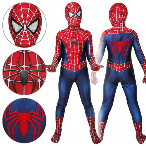 Kids Spider-Man Peter Parker Spider-Man Tobey Maguire Jumpsuit Cosplay Costume -