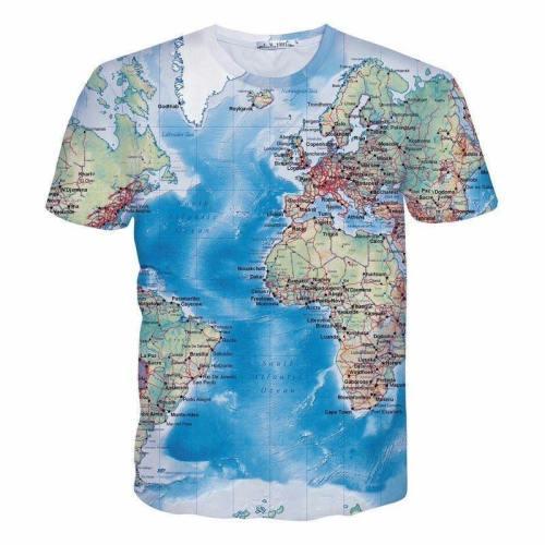 World Map 3D T-Shirt
