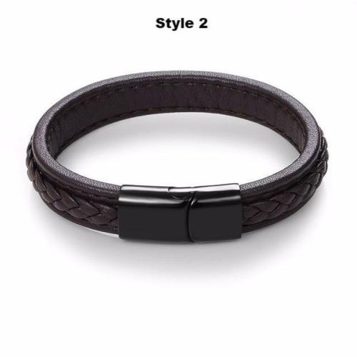 Stronghold Leather Bracelet Series