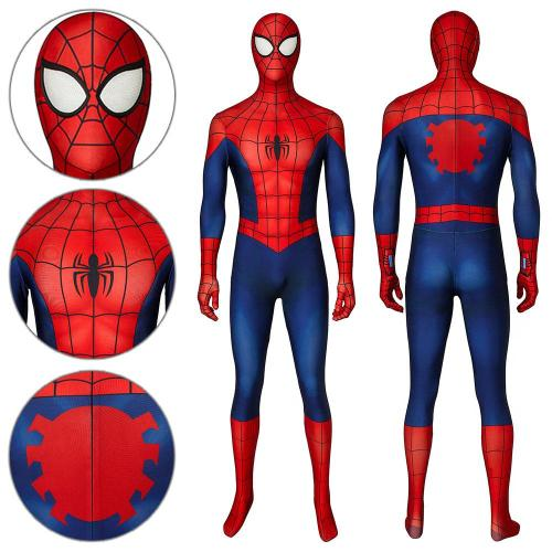 Spider-Man Peter Parker Ultimate Spider-Man Season1 Jumpsuit Cosplay Costume -