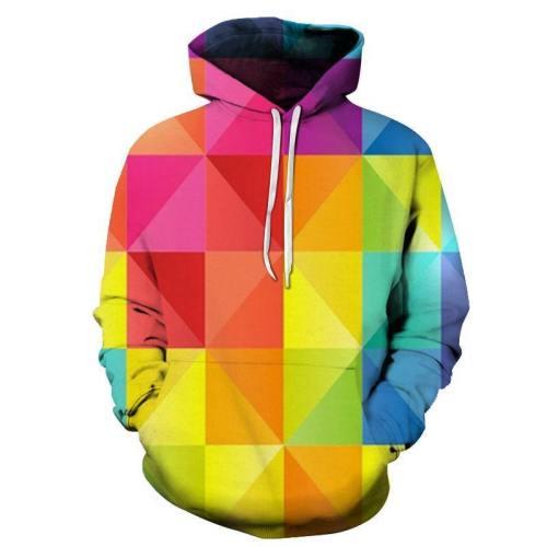Bright Geometric 3D - Sweatshirt, Hoodie, Pullover