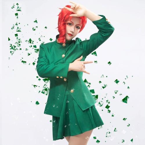 Jojo'S Bizarre Adventure: Stardust Crusaders Female Noriaki Kakyoin Halloween Cosplay Costume