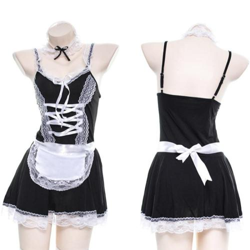 Japanese Maid Lace Bow Lingerie Dress