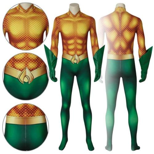Aquaman Arthur Curry Comics  Movie Aquaman Jumpsuit Cosplay Costume -