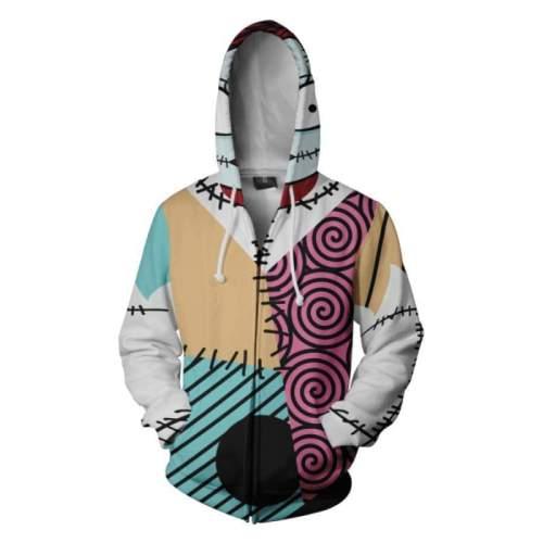 The Nightmare Before Christmas Movie Jack Skellington Cosplay Unisex 3D Printed Hoodie Sweatshirt Jacket With Zipper