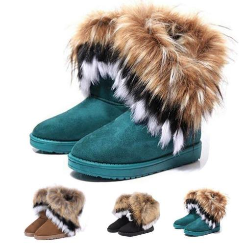 Snow Boots With Artificial Fur