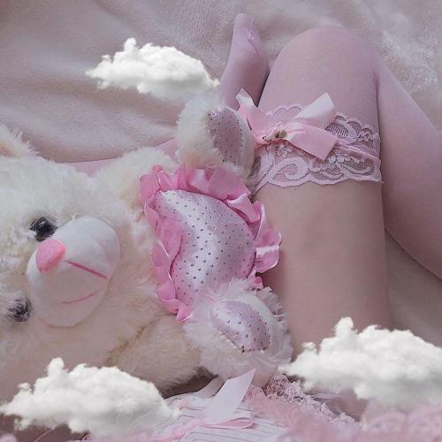 Sheer Babygirl Bow Stockings