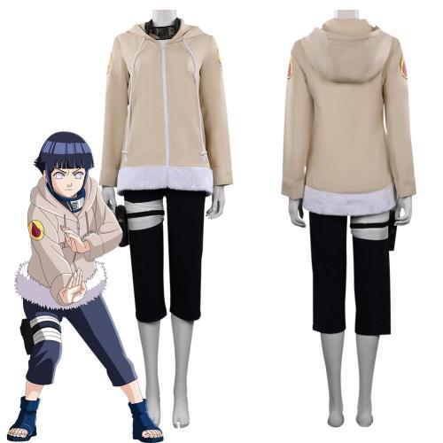 Kids Naruto Hinata Hyuuga Outfits Halloween Carnival Suit Cosplay Costume