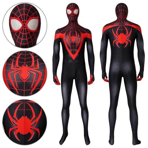 Spider-Man Miles Morales Ultimate Spider-Man Miles Morales Jumpsuit Cosplay Costume -