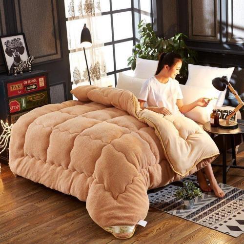 4Kg Thicken Shearling Blanket Winter Soft Warm Bed Quilt