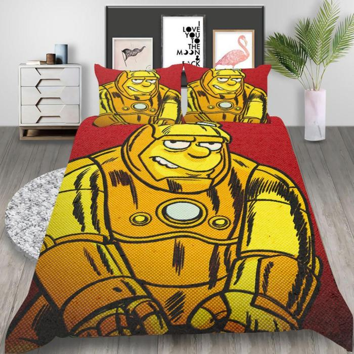 The Good, The Bart, And The Loki Cosplay Bedding Set Duvet Cover Pillowcases Halloween Home Decor