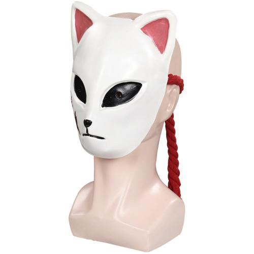 Demon Slayer Sabito Mask Masquerade Halloween Party Costume Props Cosplay Latex Masks Helmet