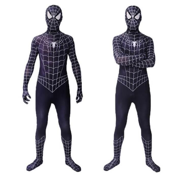 Black Venom Spiderman Jumpsuit Superhero  Zentai Suit Cosplay Costumes