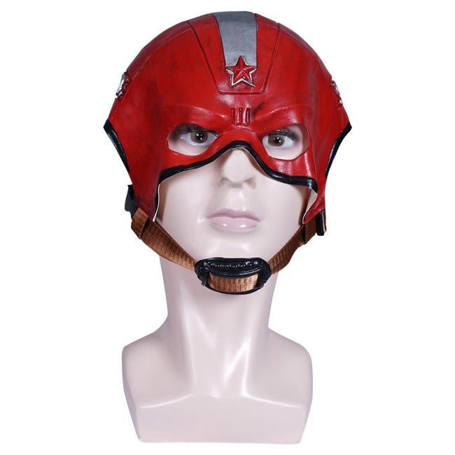 Black Widow Alexei Shostakov  Red Guardlian Helmet Masquerade Halloween Cosplay Costume Props Cosplay Latex Masks