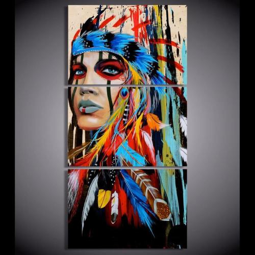 Native American Indian Hd Canvas