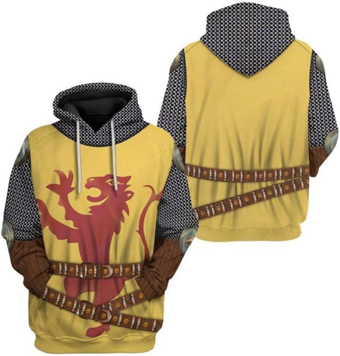 Roibert A Briuis Historical Figure Unisex 3D Printed Hoodie Pullover Sweatshirt