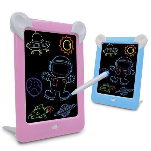 3D Magic Drawing Board Led Cartoons Luminous Graffiti Painting Copy Pad Learning Early Educational Toys Gifts For Children Kids