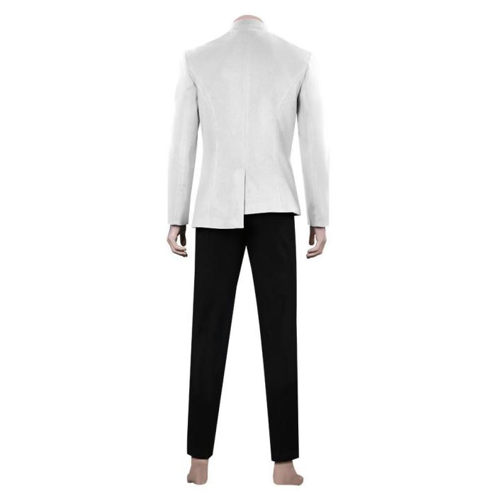 Star Trek: Discovery S4 White Men Uniform Outfits Halloween Carnival Suit Cosplay Costume