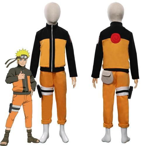 Anime Naruto-Uzumaki Naruto Kids Children Outfits Halloween Carnival Costume Cosplay Costume