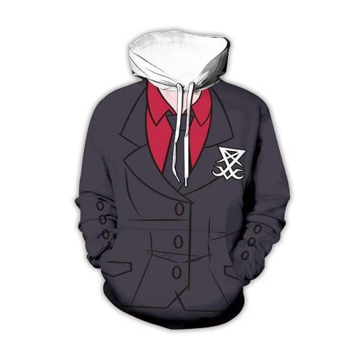 Helltaker Game Role 4 Unisex 3D Printed Hoodie Pullover Sweatshirt